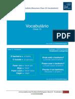 Resumen Clase 15 Vocabulario - Tus Clases de Portugues
