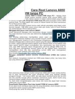 Cara Root Lenovo A850.docx