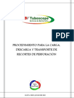 Proc. Carga Descarga y Transporte de Recortes de Perforación
