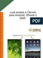 Guía de Acceso a Canvas Anahuac