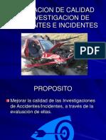 Calidad de Investigación de Accidentes