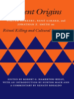 Walter Burkert, Rene Girard, And Jonathan Z. Smith on Ritual Killing and Cultural Formation