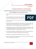 Sterling Bank PLC Half Year 2010 Release - July 27, 2010
