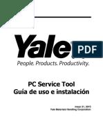 Yale PC Service Tool V4.84 Guía de Instalación y Uso