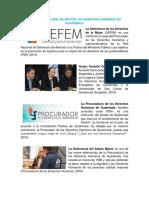 Aosciones de Guatemala que velan por la apliacion de los derechos Humanos