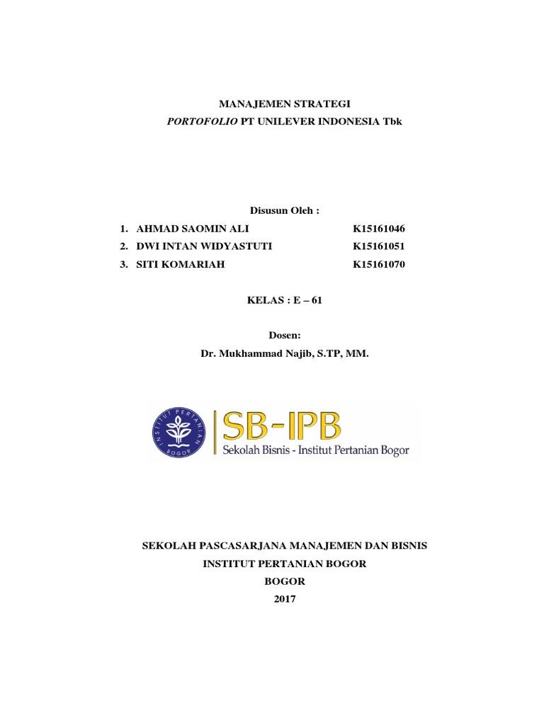 Makalah Kelompok 2 Management Strategic Portofolio Pt Unilever Indonesia Tbk