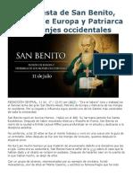 Hoy Es Fiesta de San Benito