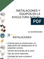 Instalaciones y Equipos en La Avicultura