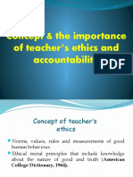 Concept & the Importance of Teacher's Ethics And