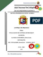 Evaluacion de Control de Procesos