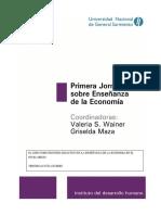 Jornada Sobre Enseñanza de La Economía