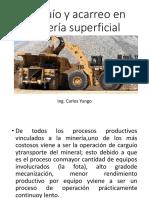 Carguío y Acarreo en Minería Superficial