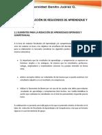ELEMENTOS PARA LA REDACCIÓN DE APRENDIZAJES ESPERADOS Y COMPETENCIAS.