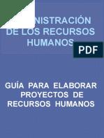 Guia Para Estructurar Un Proyecto de Rec. Humanos