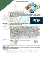 syllabus computer applications  002