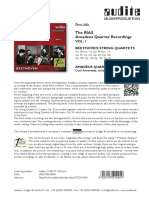 Press en the Rias Amadeus Quartet Beethoven Recordings