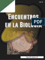 Encuentros en La Biología (Mayo 2007 Nº118)