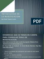 Titulo y Probelma de Investigacio- Metodologia de La Inv