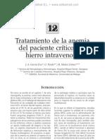 Tratamiento de la anemia del paciente cri¦ütico con hierro iv