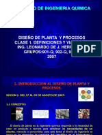 Clase 1[1]. Diseño de Planta y Procesos. Conceptos y Costos Iniciales