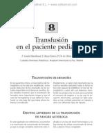 Transfusio¦ün en el paciente pedia¦ütrico