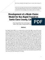 Development of a Mode Choice Model for Bus Rapid Transit in Santa