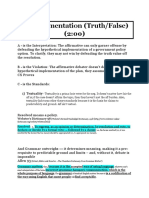T- Implementation (Truth False Paradigm Bad)