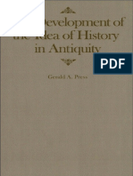 Gerald a. Press. the Development of the Idea of History in Antiquity