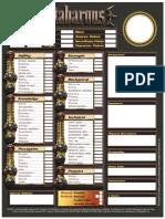 Metabarons Character Sheet