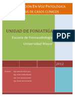Análisis de casos clínicos  de voz 2012