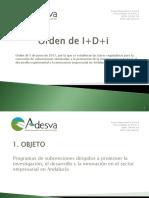 Orden de I+D+i