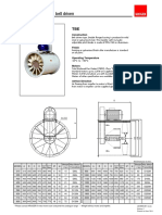 TBE Series - Axial Flow Fan – Belt Driven Type