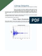 Earthquake vs Energy Dissipation