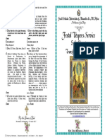 2017 -5-6 Aug- Vespers SERVICE - Transfiguration