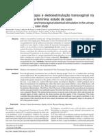 Efeito da cinesioterapia e eletroestimulação transvaginal naincontinência urinária feminina