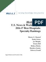 U.S. News & World Report 2016-17 Best Hospitals Methodology 2016-17