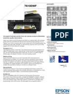 Epson Workforce WF-7610DWF A3 4-In-1 Wireless Inkjet Printer Datasheet