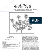 May 2001 Castilleja Newsletter, Wyoming Native Plant Society