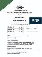 P4 Math SA2 2015 Nanyang Exam Papers