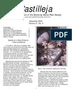 Dec 2002 Castilleja Newsletter, Wyoming Native Plant Society