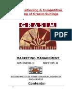 Grasim Marketing Project FINAL
