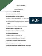 Daftar Dokumen Panduan Dan Pedoman
