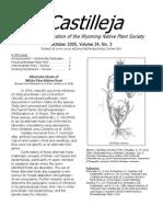 Oct 2005 Castilleja Newsletter, Wyoming Native Plant Society