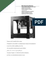 User Manual Neje Mini Engraving Machine