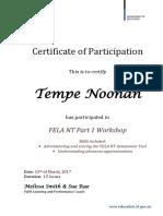 certificate fela part 1