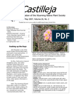 May 2007 Castilleja Newsletter, Wyoming Native Plant Society