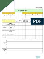 OEE Monitoring Sheet Sample