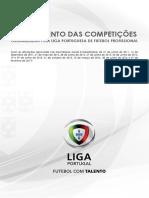 Regulamento Das Competições Organizadas Pela Liga Portuguesa de Futebol Profissional