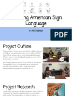 junior projects-teaching american sign language
