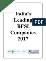Indias Leading BFSI Companies 2017